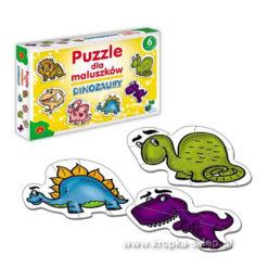 Puzzle dal maluszków - dinozaury
