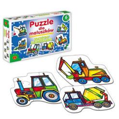 Puzzle dla maluszków - maszyny budowlan