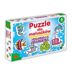 Puzzle dla maluszków - podwodne zwierzęta