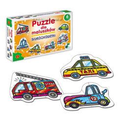 Puzzle dla maluszków - samochody