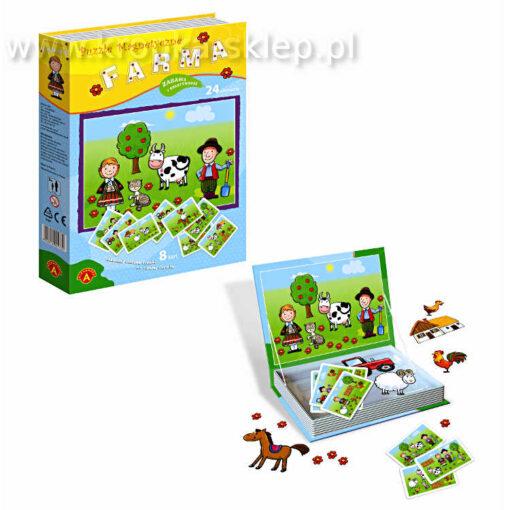 Puzzle magnetyczne - farma