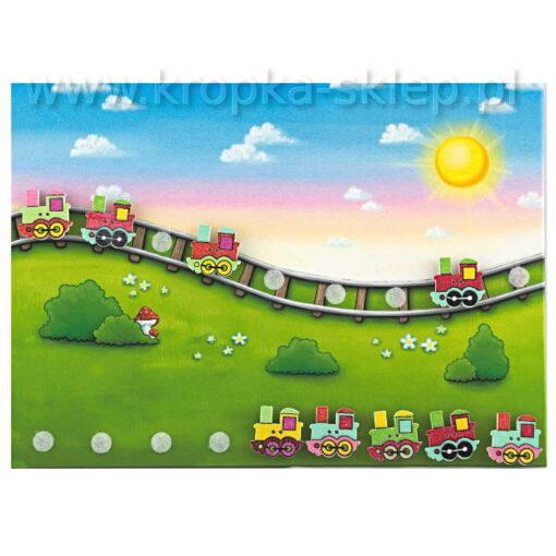 Tabliczka motywacyjna Pędzące lokomotywy