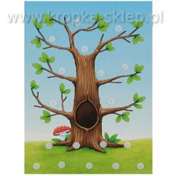 Tabliczka motywacyjna sowie drzewo-2