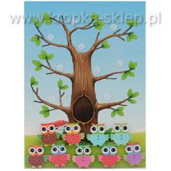 Tabliczka motywacyjna sowie drzewo
