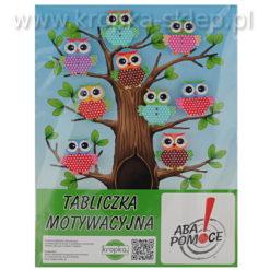 Tabliczka motywacyjna sowie drzewo-3