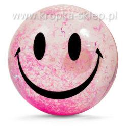 Uśmiechnięta piłka z brokatem