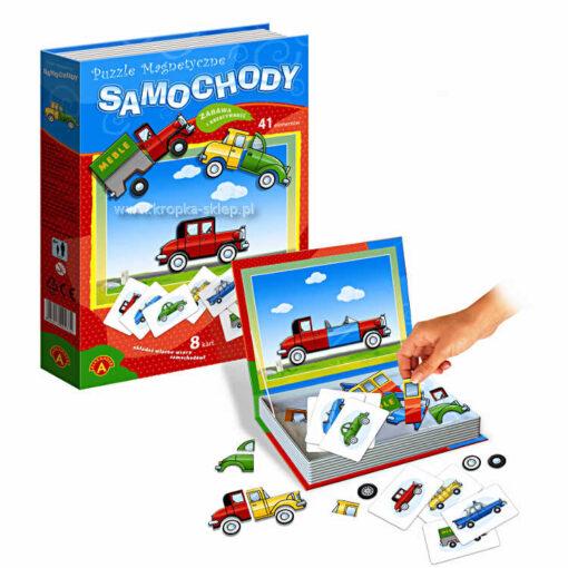 Puzzle magnetyczne - samochody