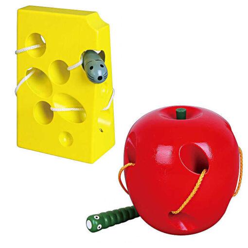 Przeplatanka drewniana ser i jabłko