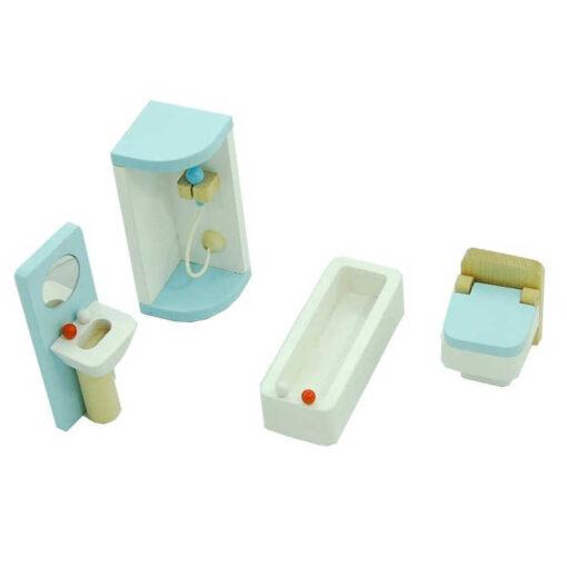 Mebelki dla lalek łazienka
