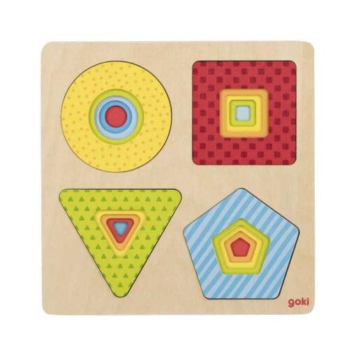 Puzzle warstwowe geometryczne