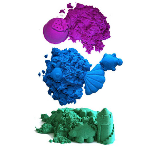 Piasek kinetyczny bajeczne kolory 1 kg