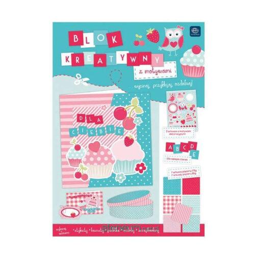 Blok kreatywny A4 z naklejkami Pastel