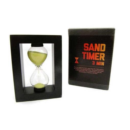 Klepsydra piaskowa w ramce 3 minuty