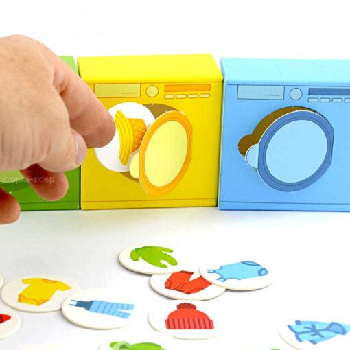 Kolorowe pranie segreguję kolory