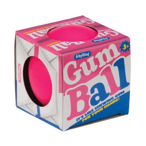 Różowa piłeczka antystresowa gum ball