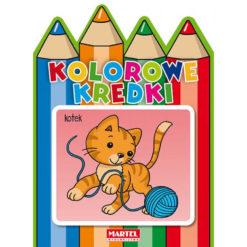Kolorowanka Kolorowe kredki kotek