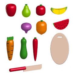 Warzywa i owoce do krojenia w skrzynce