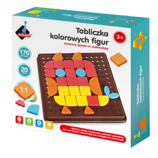 Tabliczka kolorowych figur
