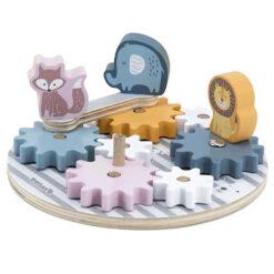 Układanka koła zębate ze zwierzątkami