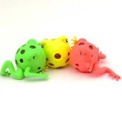 Gniotek żabka neonowa