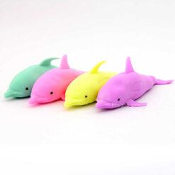 Gniotek delfin pastelowy